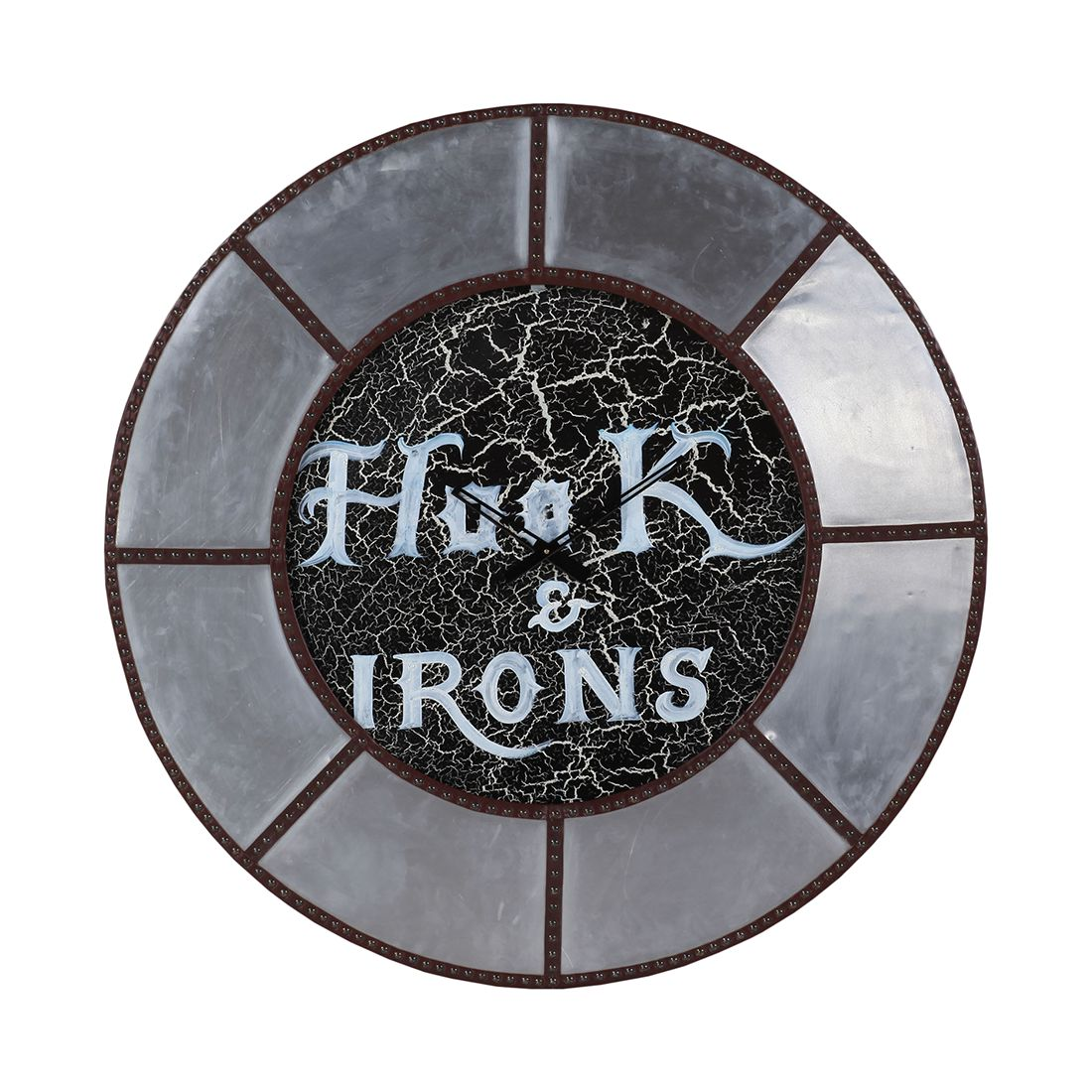 home24 Wanduhr Portilla | Dekoration > Uhren > Wanduhren | Silber | Holzwerkstoff | ars manufacti