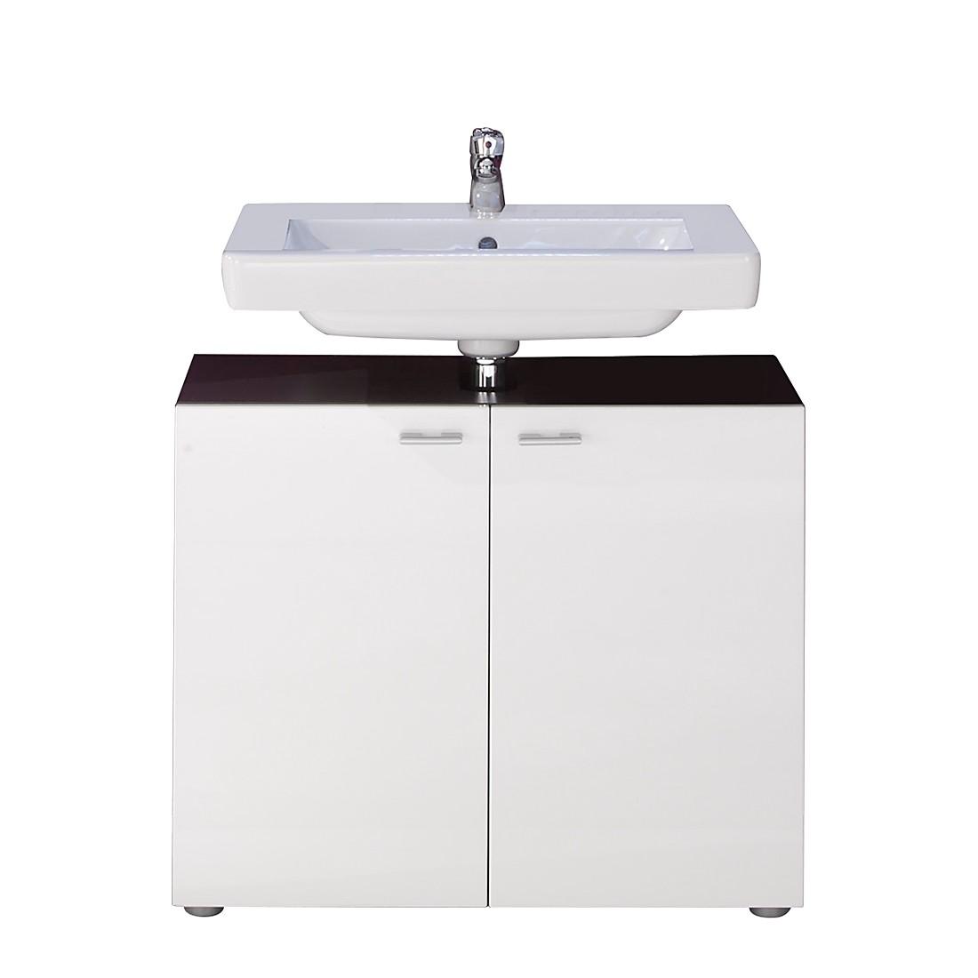 EEK A+, Waschbeckenunterschrank Angulo - Graphit Dekor/Weiß, Trendteam