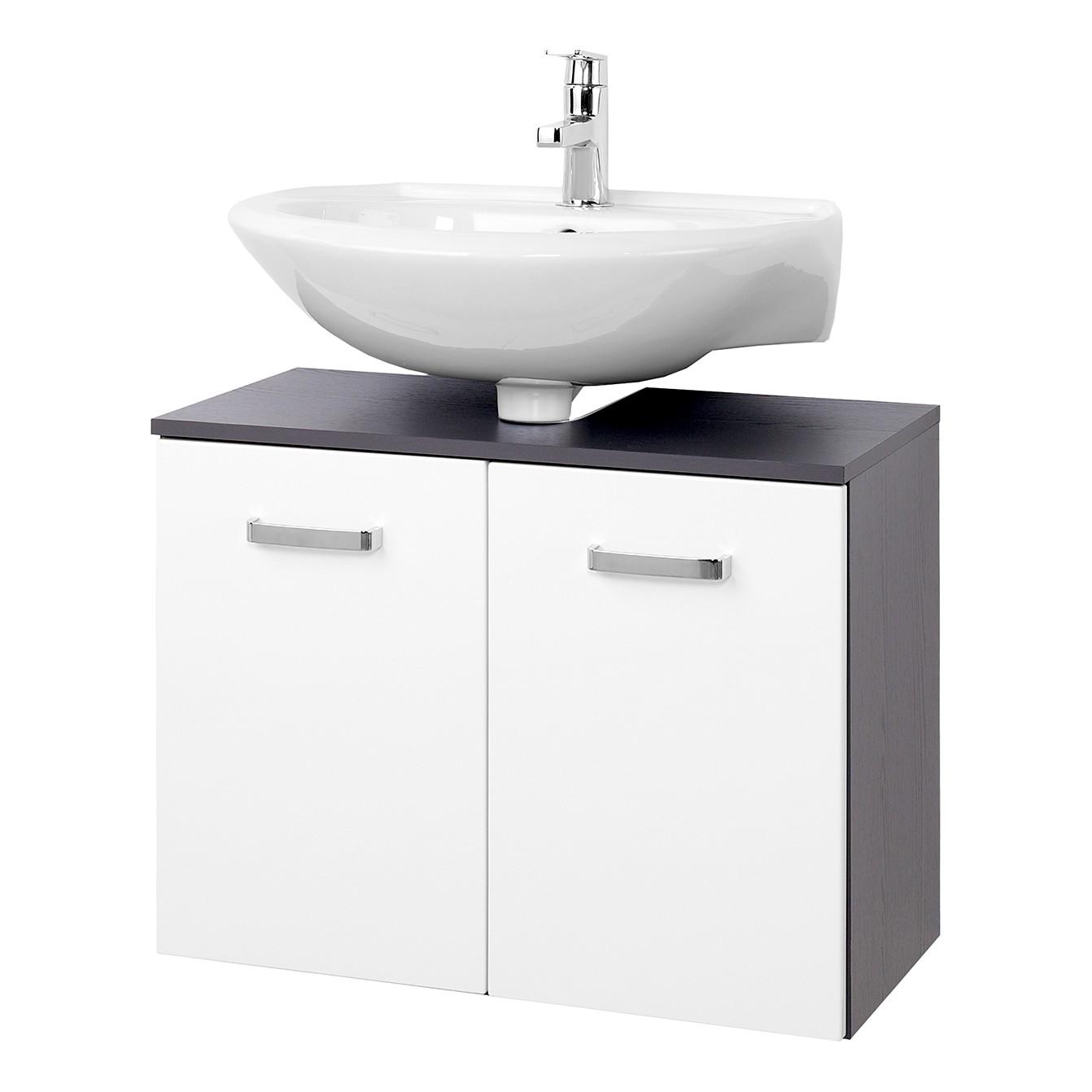 home24 Waschbeckenunterschrank Zeehan I | Bad > Badmöbel > Waschbeckenunterschränke | Grau | Holzwerkstoff | Giessbach