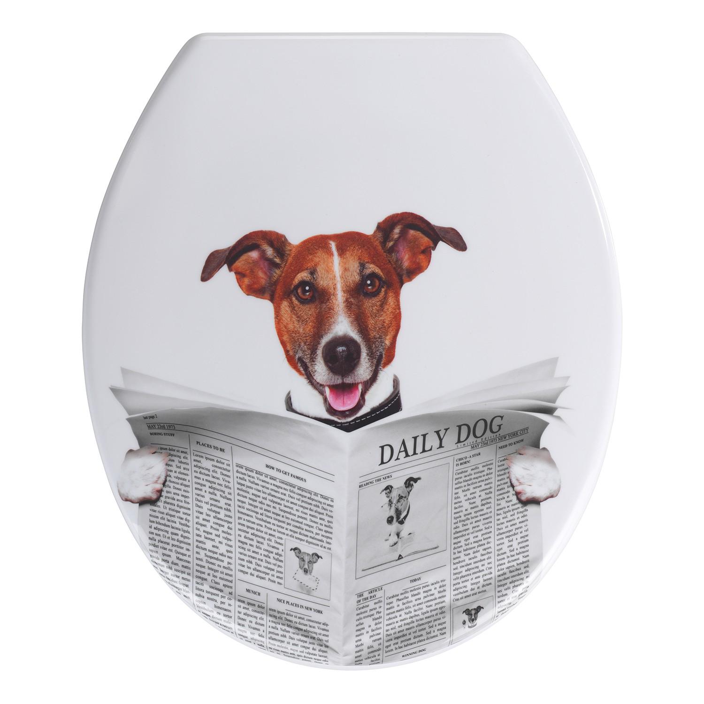 home24 WC-Sitz Daily Dog   Bad > WCs   Beige   Kunststoff   WENKO