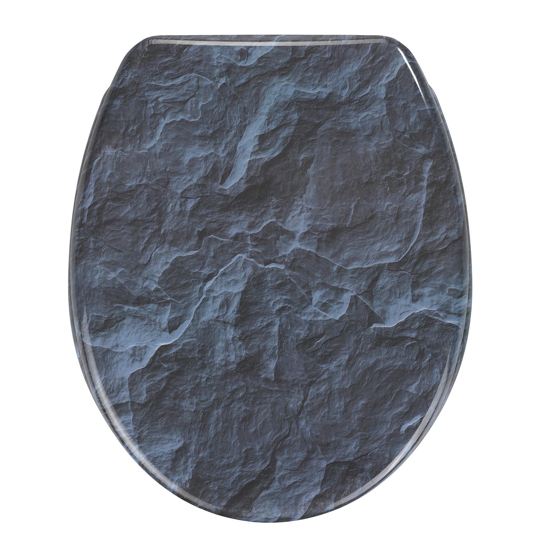 home24 WC-Sitz Slate Rock | Bad > WCs | Blau | Kunststoff | WENKO
