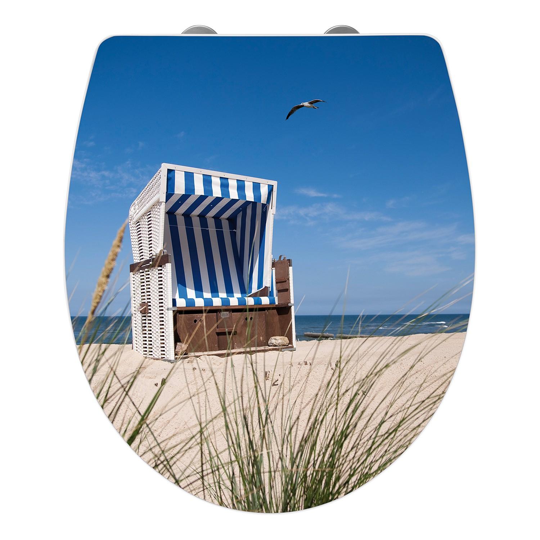 Tavoletta WC Poltrona da spiaggia - Multicolore, Wenko
