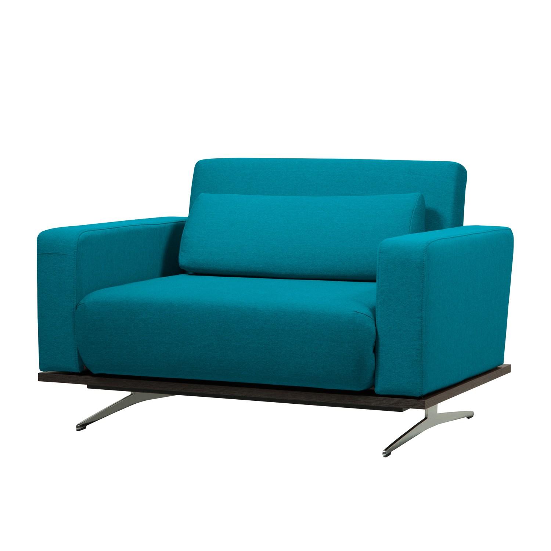 Verwisselbare bekleding voor slaapfauteuil Copperfield Plus geweven stof Stof Zahira Turquoise, Studio Copenhagen