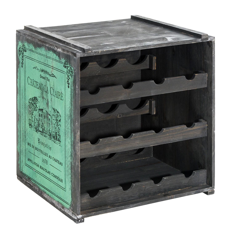 Weinregal Claire | Küche und Esszimmer > Küchenregale > Weinregale | Gruen | Holz | PureDay