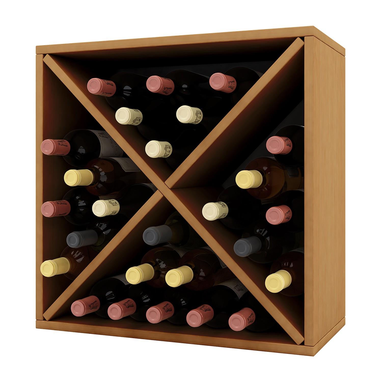 home24 Weinregal Weino | Küche und Esszimmer > Küchenregale | Braun | Holzwerkstoff | VCM
