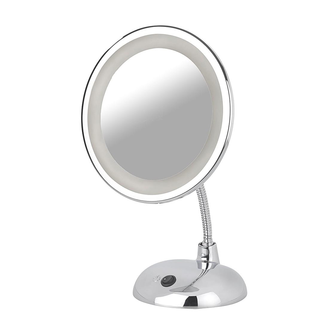 LED Kosmetikspiegel Style (3-fach Vergrößerung) - Chrom, Wenko