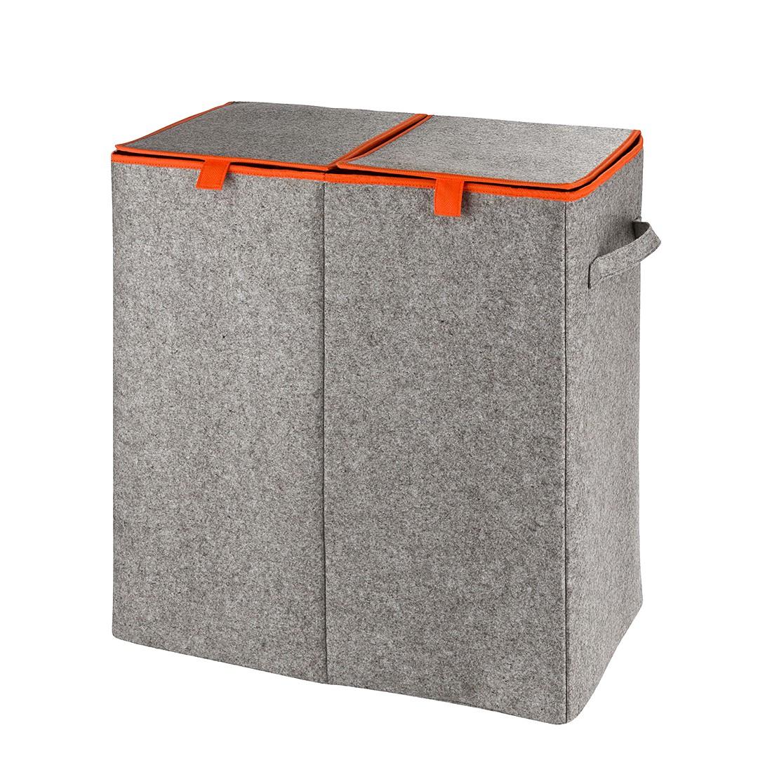 Wäschesammler Duo Filz - Orange, Wenko