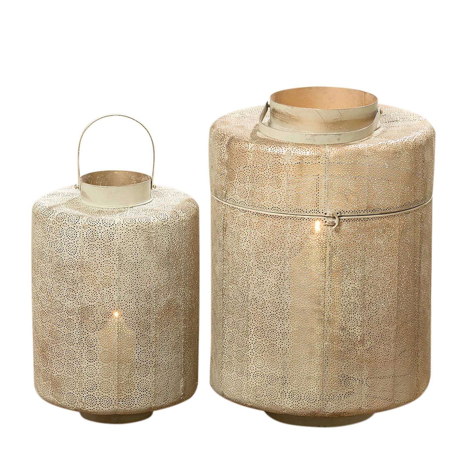 Photophore salou 2 l ments fer beige clair boltze for Catalogue meuble