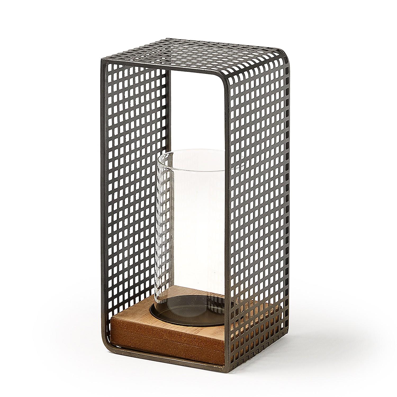home24 Windlicht Valdis | Dekoration > Kerzen und Kerzenständer > Windlichter | Grau | Metall | twentyfour