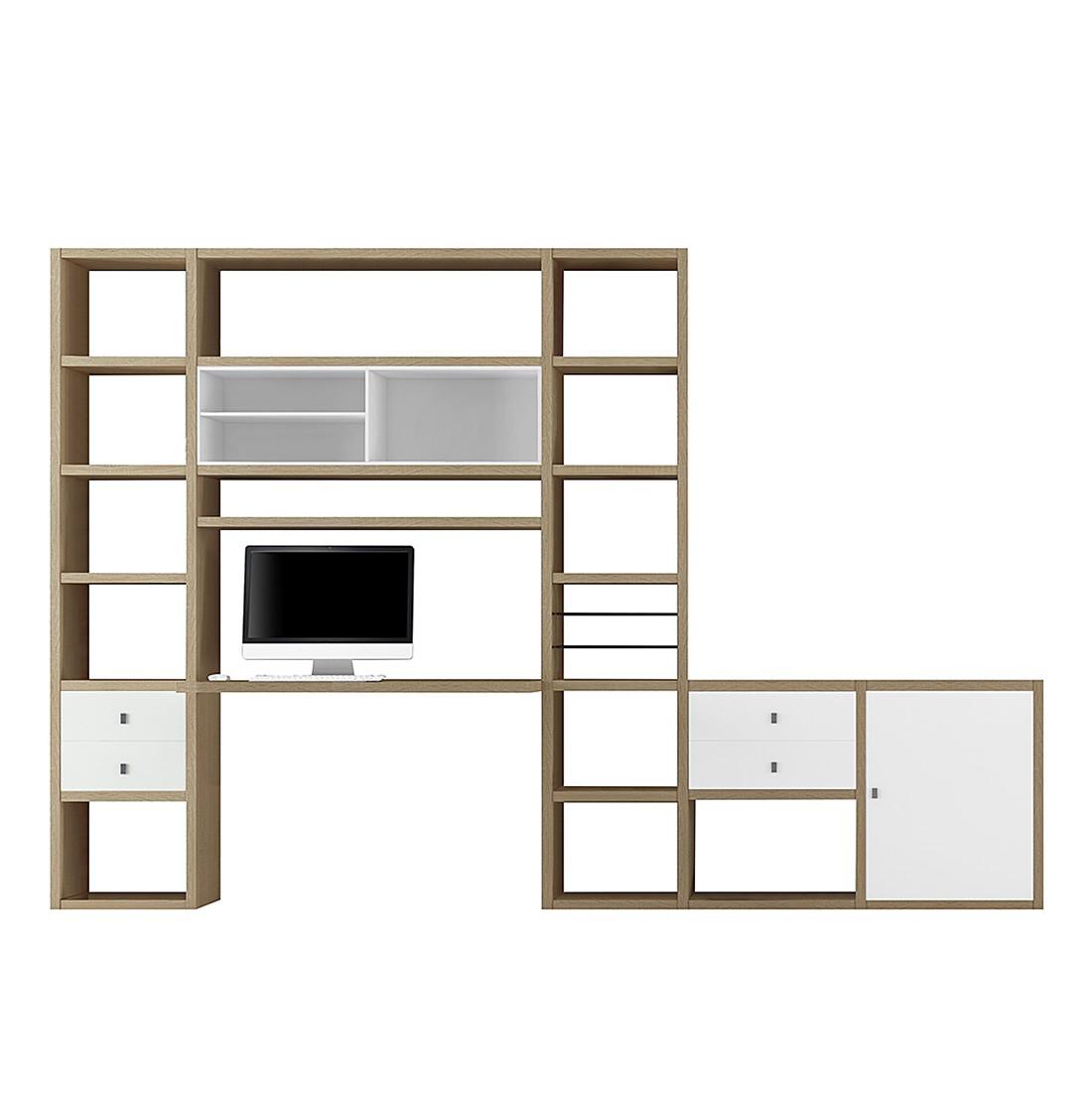 home24 Wohnkombination Emporior II | Wohnzimmer > Schränke > Wohnwände | Beige | Holzwerkstoff | Fredriks