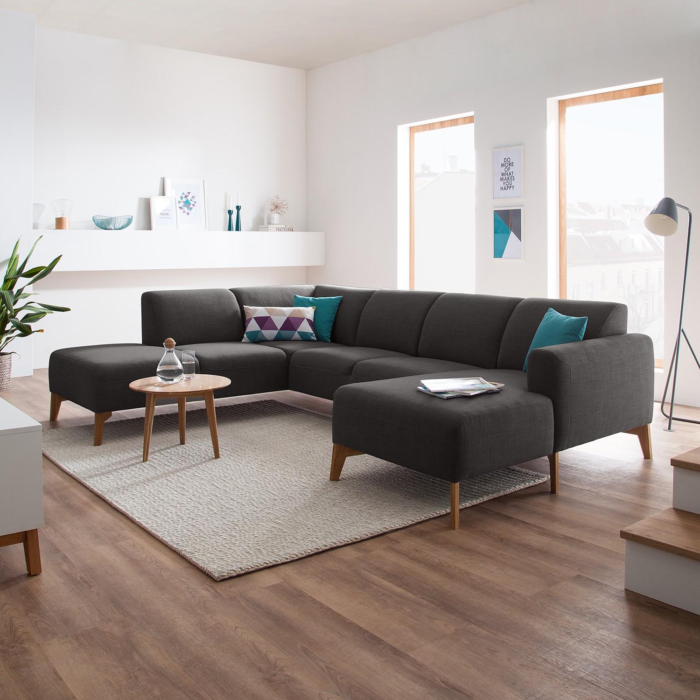 Studio Copenhagen Wohnlandschaft Bora II Anthrazit Strukturstoff 282x78x206 cm