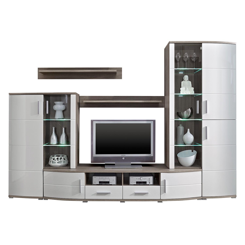 wohnwand eiche sonoma good wohnwand eiche sonoma hell beleuchtung cm breit cm tief with. Black Bedroom Furniture Sets. Home Design Ideas