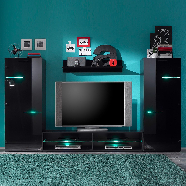 wohnwand nussbaum schwarz preisvergleich die besten angebote online kaufen. Black Bedroom Furniture Sets. Home Design Ideas