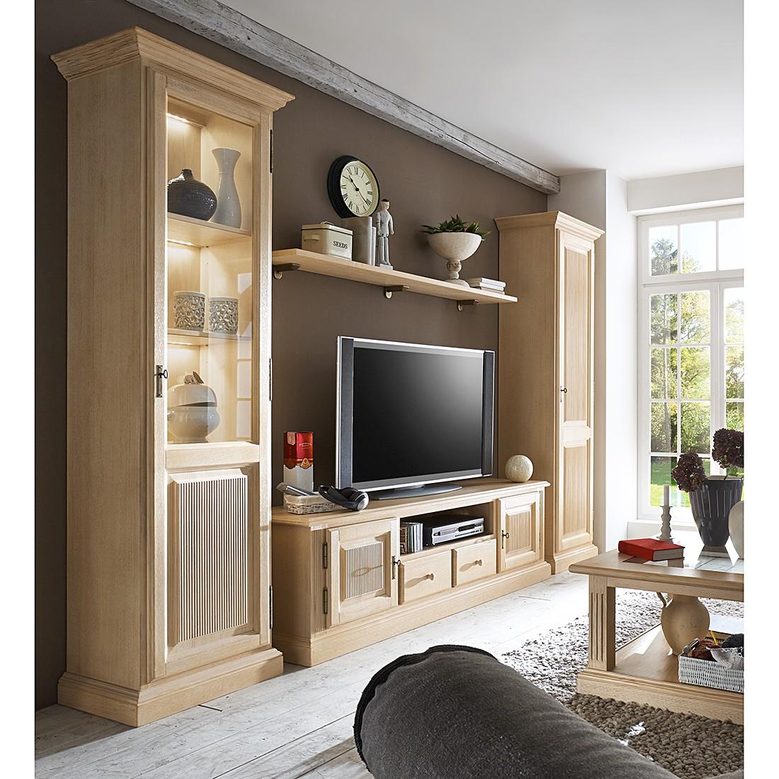 EEK A+, Ensemble de meubles TV Breddin I (4 éléments) - Pin massif - Avec éclairage, Ars Natura