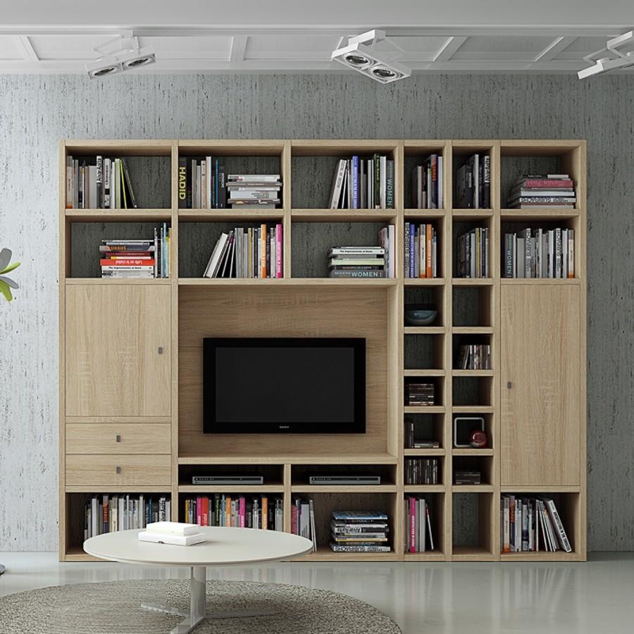 Ensemble de meubles TV Emporior II - Chêne de Sonoma, Fredriks