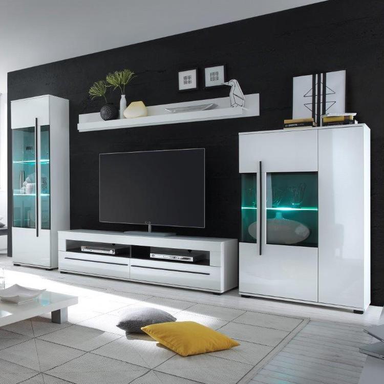 Fantastisch Wohnwand Farson (4 Teilig)   Hochglanz Weiß / Weiß | Home24