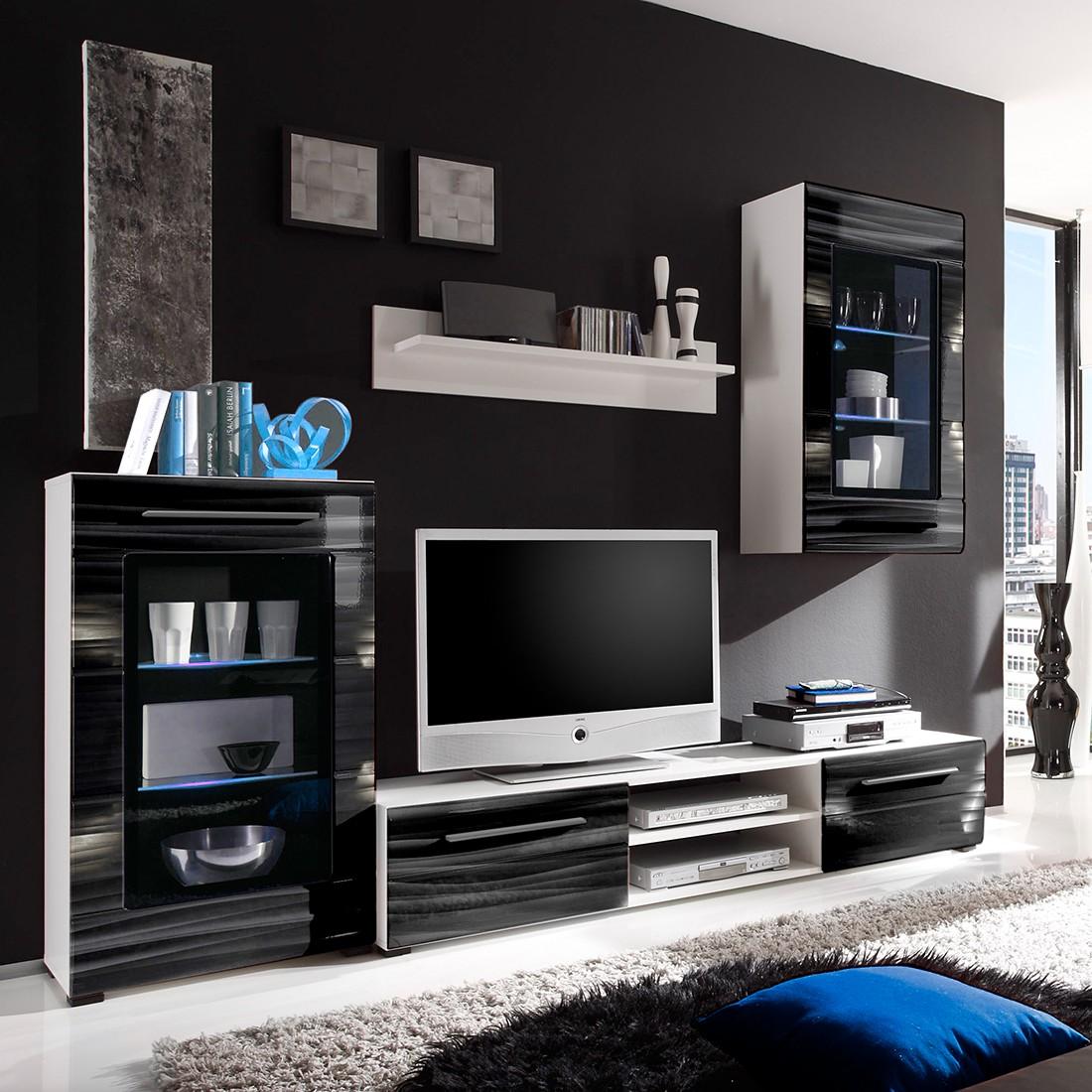 hochglanz wohnwand wei amazing wohnwand weis hochglanz komplett designer wohnwand weis. Black Bedroom Furniture Sets. Home Design Ideas