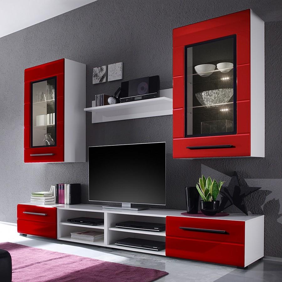 Meuble Tv Loftscape Pas Cher Le Mobilier # Meuble Tv Rouge