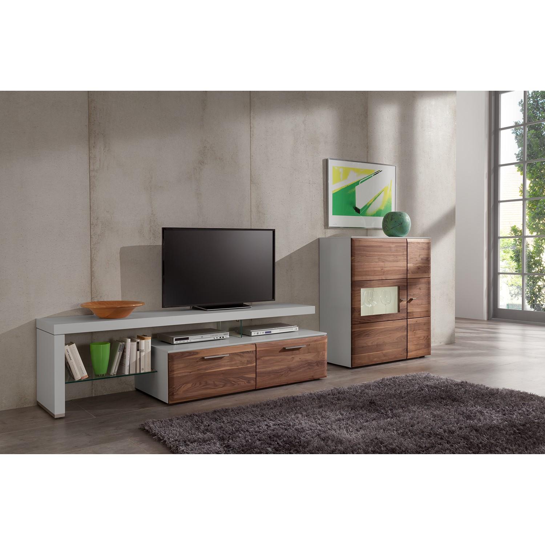 home24 Wohnwand Solano (3-teilig) | Wohnzimmer > Schränke > Wohnwände | Beige | Holz teilmassiv | Netfurn by GWINNER