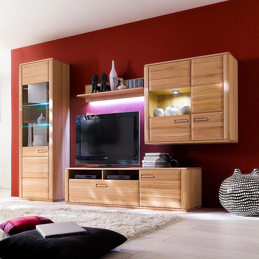 wohnwand kernbuche preisvergleich die besten angebote. Black Bedroom Furniture Sets. Home Design Ideas