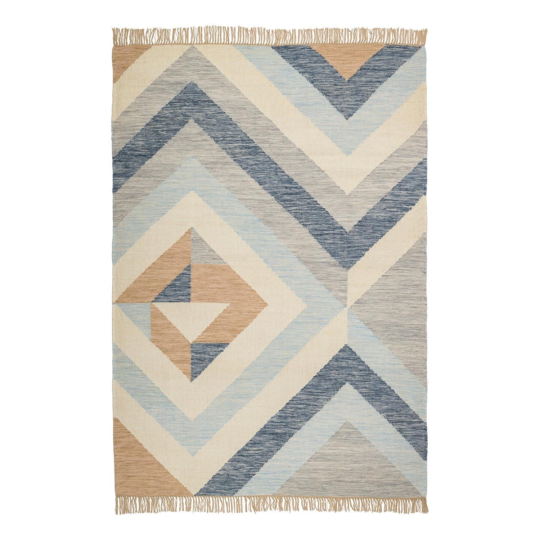 Wollteppich allinge mischgewebe blau 140 x 200 cm 4949956