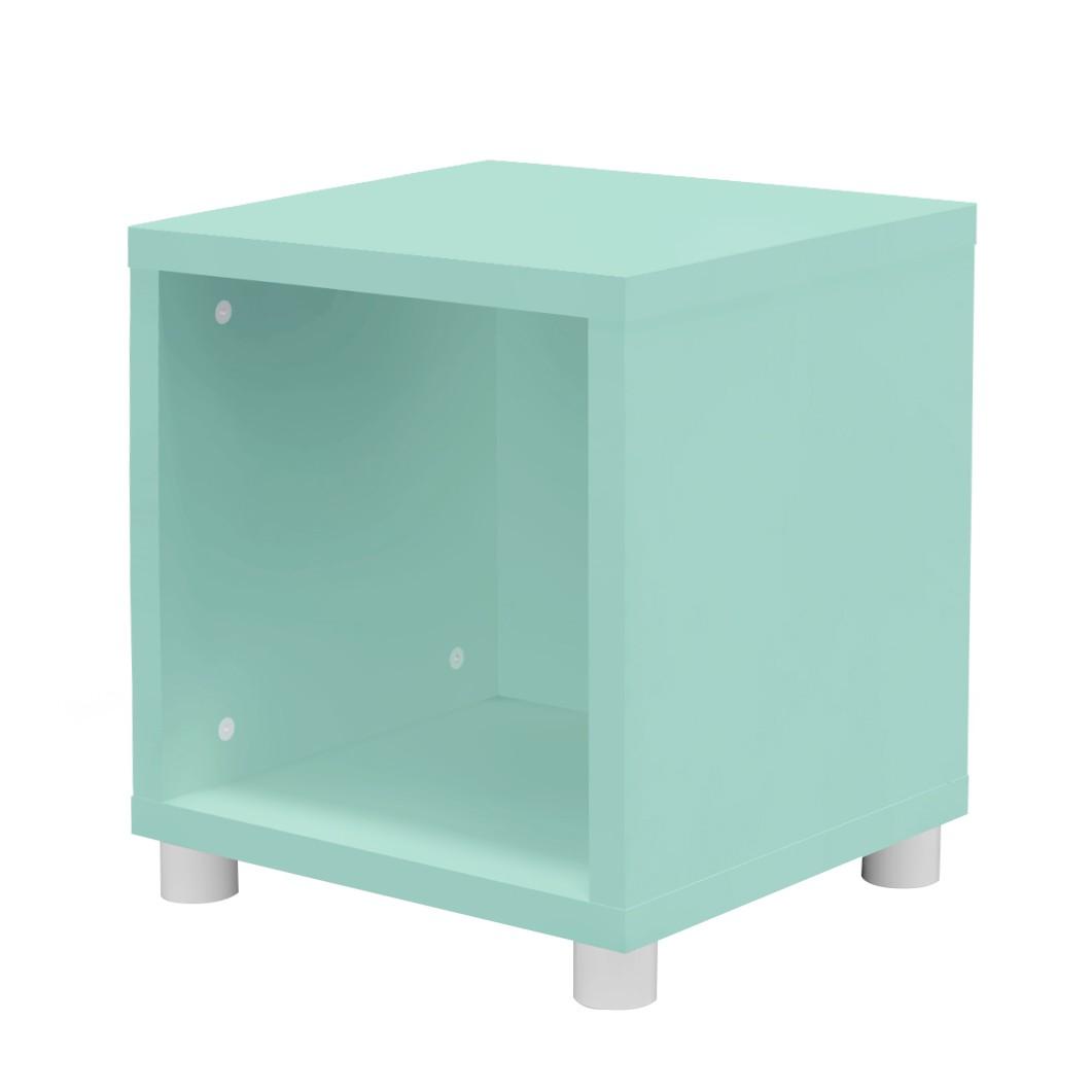 home24 Wuerfelregal Box | Wohnzimmer > Regale > Regalwürfel | Gruen | Holzwerkstoff | Tenzo