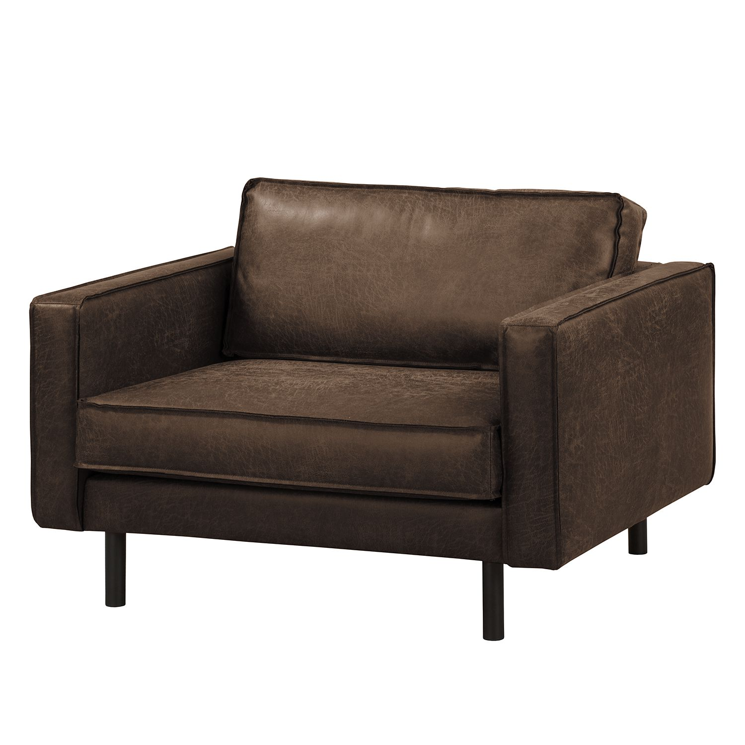 Home24 XXL-fauteuil Fort Dodge antieke leerlook, ars manufacti