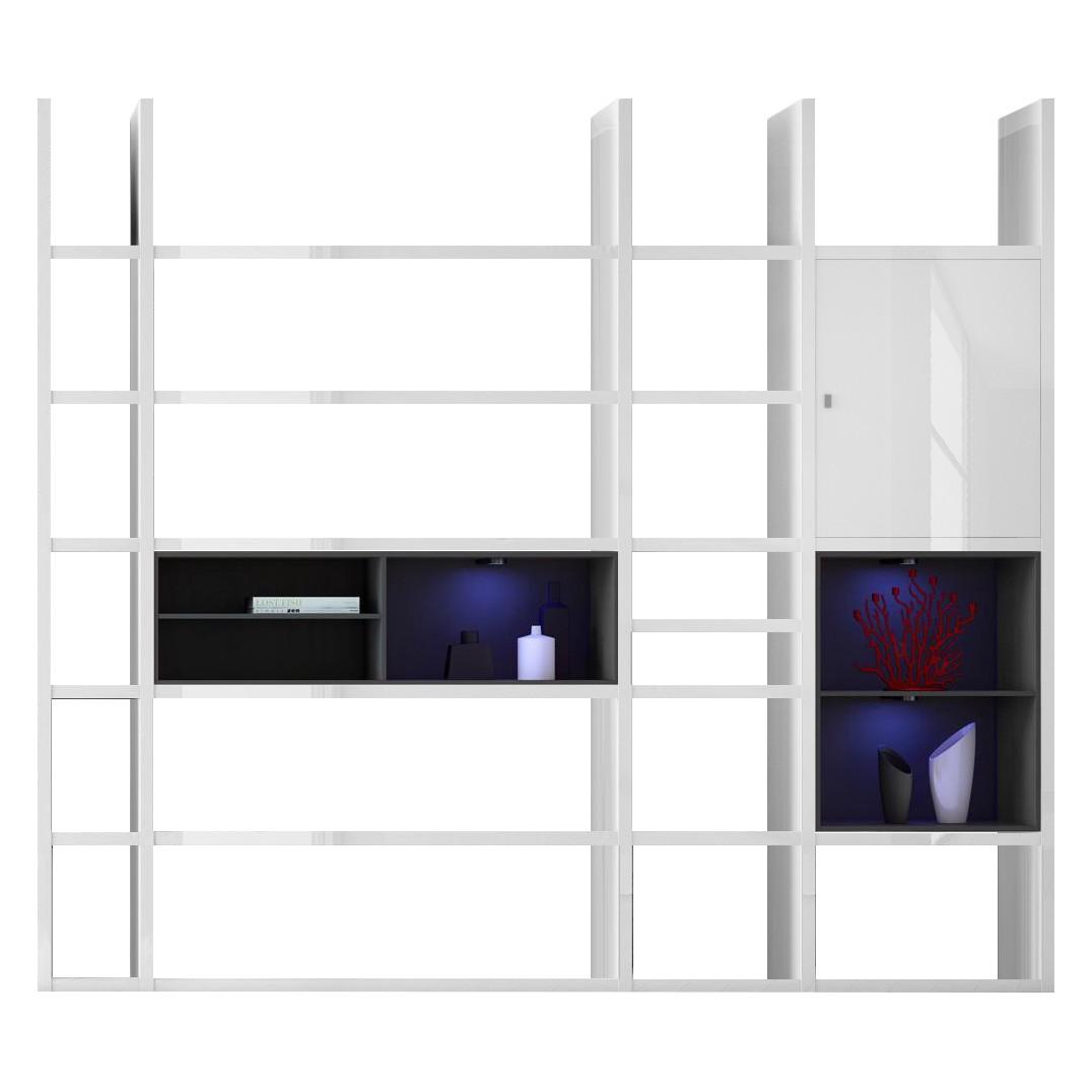 EEK A+, Regal Emporior II RGB LED Beleuchtung Hochglanz