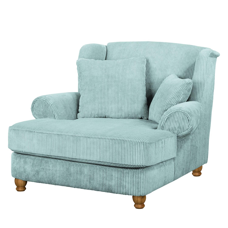 goedkoop XXL fauteuil Colares ribfluweel Babyblauw Maison Belfort