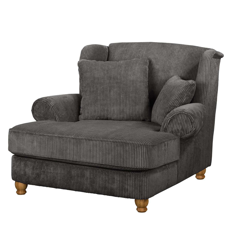 goedkoop XXL fauteuil Colares ribfluweel Grijs Maison Belfort