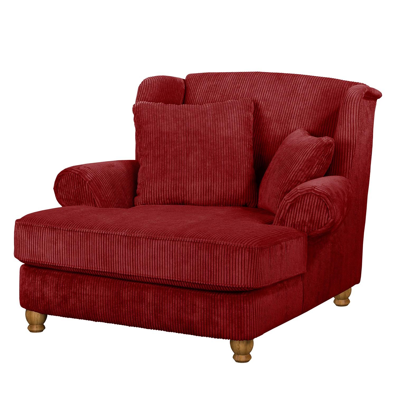 goedkoop XXL fauteuil Colares ribfluweel Rood Maison Belfort