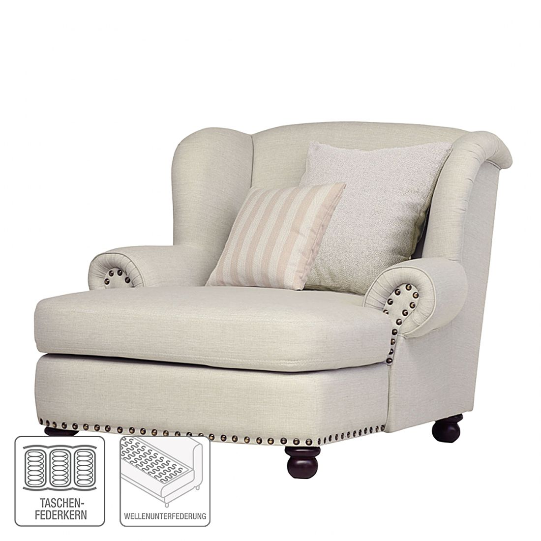 Home24 XXL-fauteuil Dakota, Ridgevalley