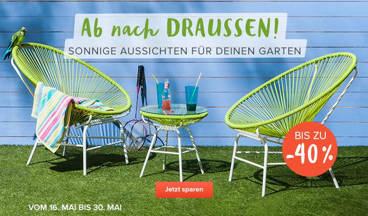 Rabatt auf Garten-Möbel